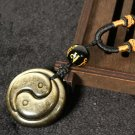 natural Gold Obsidian Hand carved The eight trigrams pendant