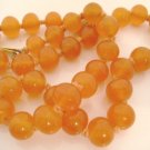 Vintage Necklace Orange 1950s Bead