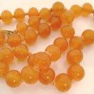 Vintage Necklace Orange 1950s Bead
