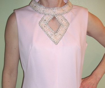 Vintage Dress Womens Pink Formal Dress