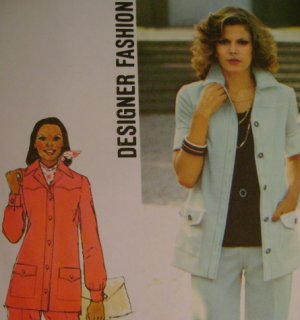 Vintage 1974 Sewing Pattern Simplicity 6405 Pantsuit