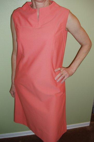 Vintage Dress Womens Peach Sleeveless