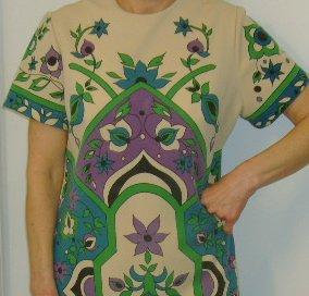 Vintage Dress Womens Short Sleeve Hippy
