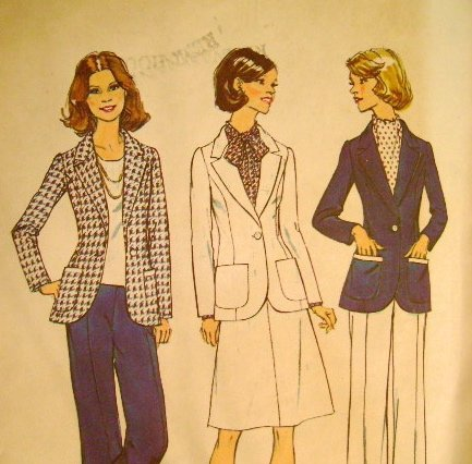 Vintage 1974 Sewing Pattern Simplicity 6803 Suit