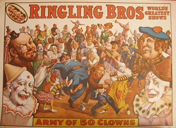 Vintage Circus Posters/ Prints 1961