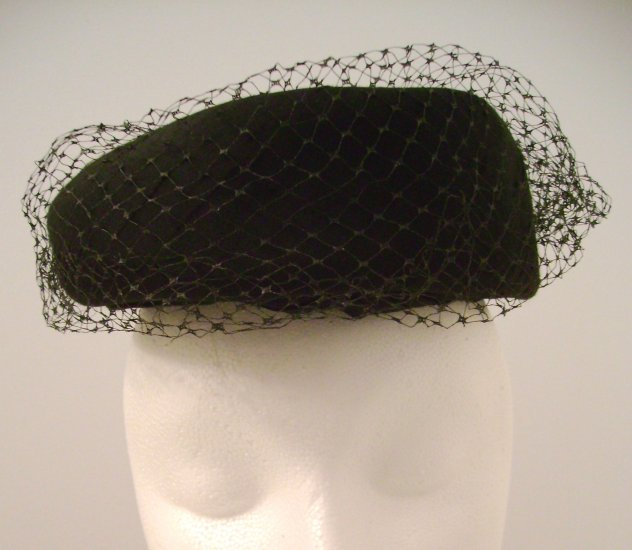 Vintage Hat Black Net