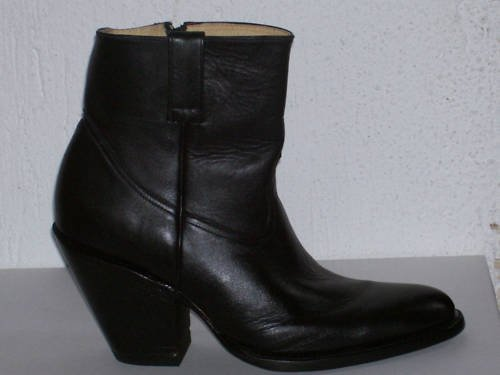 "CUSTOM COWBOY  ANKLE 8 "" TALL  BOOTS  3.5 INCHES HEEL"
