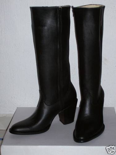MADE TO ORDER ROUND TOE16 INCHES TALL SIDE ZIPPER BOOTS
