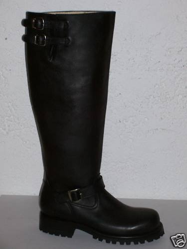 CUSTOM ENGINEER BOOTS, HEAVY THICK LEATHER 18 inch tall