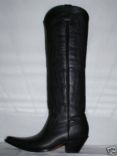 CUSTOM COWBOY BOOTS 22 INCHES GENUINE LEATHER
