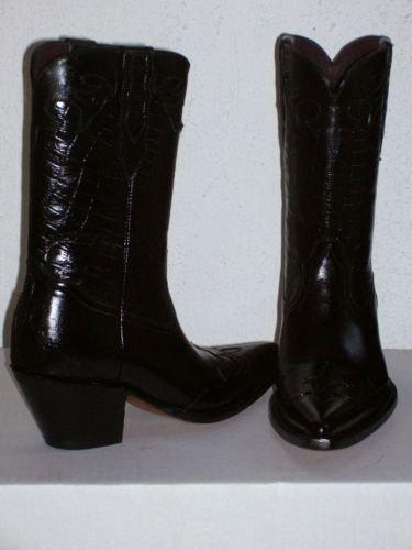 COWBOY BOOTS WOMAN 11 black  CROCODILE BELLY DESIGN