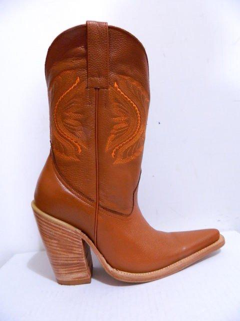 """5"""" heels cowboy boot sadle tan boots natural color heels and soles men size 10.5"""