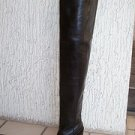 "Custom tight  Xtreme sarp toe 34 inch tall shaft cowboy boots 3,4 and 5"" heels"