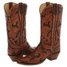 Hand tooled boot made to order any style from gallery or send drawing or picture