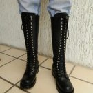 "CUSTOM MADE TO ORDER RANGER LACE UP BOOT 18"" tall  FULL GRAIN THICK LEATHER"