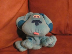 Fisher Price 2001 Blue's Clues Blue Hand Puppet 7""