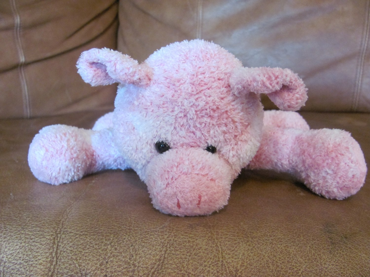 """2002 Mary Meyer Sweet Rascals Pink White Curly Tail Piglet Pig Plush 9"""""""