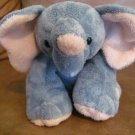 2002 Ty Pluffies Winks Tylux Elephant Lovey Plush Gray Pink Black Button Eyes 11""
