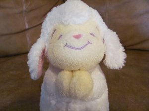 2004 Bright Inspirations Praying White Lamb Glad Lovey Plush Cream Face Hands Feet 8""