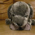 2002 Ty Beanie Buddies Frisbee Gray Tylon Puppy Dog Lovey Plush 12""