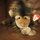 WT 1998 Ty Cha Cha Brown Long Hair Monkey Lovey Plush 13&quot;