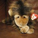 "WT 1998 Ty Cha Cha Brown Long Hair Monkey Lovey Plush 13"""