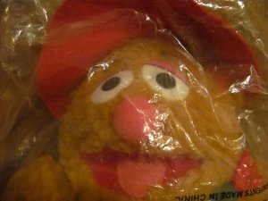 "NBO 1988 Mcdonalds Jim Hensons Muppet Baby Fozzie Christmas Lovey Plush 10"""