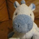 2007 Ty Pluffies Blue My Baby Horsey Plush Lovey Horse Pony 10&quot;