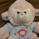 Goffa International Corp. Soft Pink Fluffy Lamb Plush Lovey Light Blue Fleece Shirt 13""