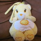 Kids II Care Bears Baby Funshine Bear Musical Crib Pull Toy  Sun Hearts Lovey Plush 13&quot;