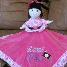 Baby Essentials Little Diva Born Shop 2 in 1 Reversible Security Blanket Rattles 14X14