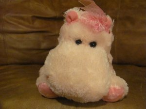 Russ Berrie #29503 Darly Pink Hippo Hippopotamus Lovey Plush 13&quot;
