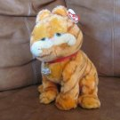 2003 WT Ty Beanie Buddies Garfield Orange Brown Tabby Kitty Cat Lovey Plush 10""
