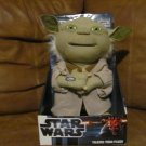 NIB Just Play Lucasfilm Ltd Star Wars Talking Yoda Plush 13""