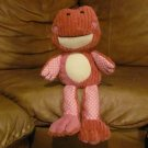 Animal Adventure Patches & Scraps Pink Frog Lovey Plush 14""