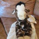 "My Banky My Name Is Nelson Large Giraffe Tan Fur Satin Blanket 28""x28"""