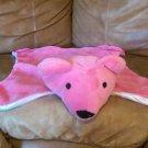 "Hot Pink Satin Teddy Bear Security Blanket Mat 21""x15"""