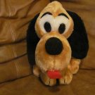 Vintage Dakin Pluto Black Button Eyes Red Felt Tongue Lovey Plush 11""
