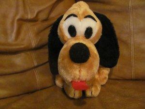 "Vintage Dakin Pluto Black Button Eyes Red Felt Tongue Lovey Plush 11"""