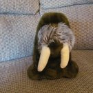 Vintage 1974 Dakin Walrus Chocolate Brown White Tusks Lovey Plush 14""