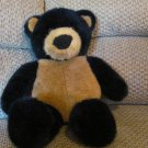 Vintage 1992 Dakin Black & Tan Teddy bear Lovey Plush 19""