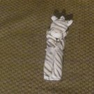 New Angel Dear White Gray Stripes Zebra Security Blanket Lovey Plush