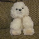 Russ Berrie White Bichon Frise Muffin Puppy Dog Plush Lovey 23218