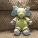 Carters Green Elephant Musical Rock-A-Bye Baby Crib Pull Toy 13""