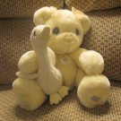 Precious Moments Premier Edition 216 of 5,500 Yellow Teddy Bear White Goose Lovey Plush
