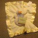 NWT Carters Yellow Rattle Duckling Duck Security Blanket Lovey Plush