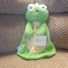NWT Baby Gear Green Yellow Minky Dot Frog Security Blanket Lovey Plush