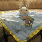 NWT Kids Preferrred Goodnight Moon Bunny Rabbit Microfleece Satin Security Blanket