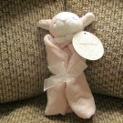 NWT Angel Dear Pink White Lamb Security Blanket Lovey Plush