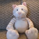 Mary Meyer Stripped Kitty Cat Peach Nose Lovey Plush 10""